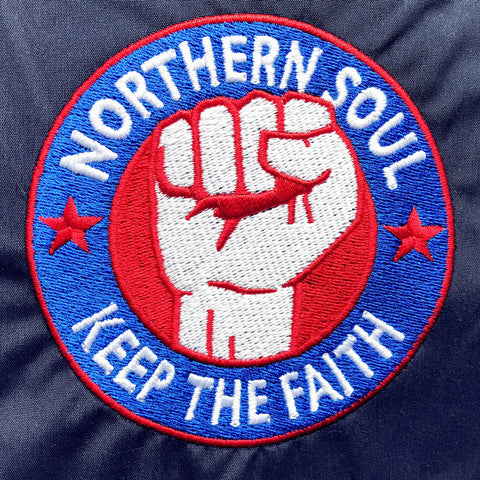 Northern Soul Keep The Faith Embroidered Badge