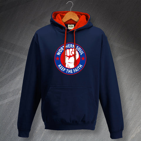 Northern Soul Hoodie Contrast Keep The Faith