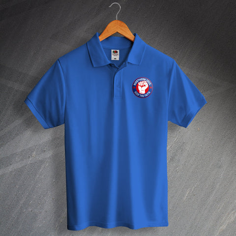 Northern Soul Polo Shirt Embroidered Keep The Faith