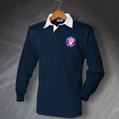 Northern Soul Rugby Shirt Embroidered Long Sleeve Keep The Faith