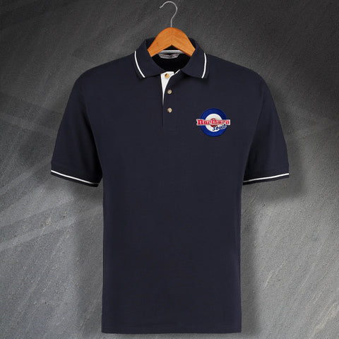 Northern Soul Polo Shirt Embroidered Contrast Roundel