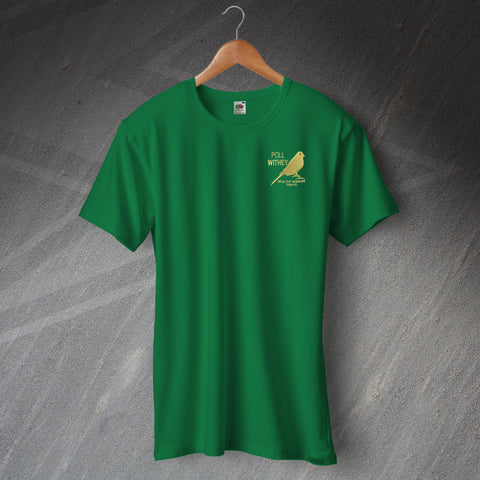 Norwich Football T-Shirt Embroidered Milk Cup Winners 1985