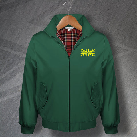 Norwich Football Harrington Jacket Embroidered Union Jack Pride of Anglia