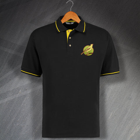 Norwich Football Polo Shirt Embroidered Contrast 1902