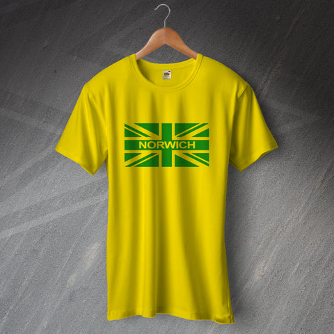 Norwich Football T-Shirt Union Jack