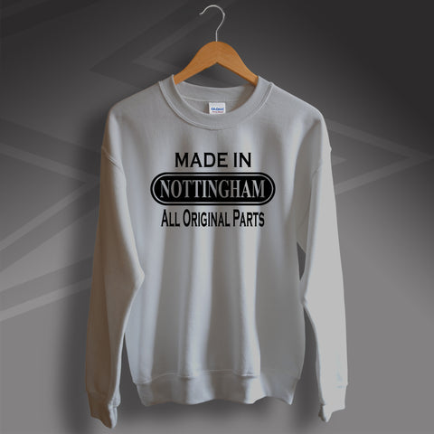 Nottingham Sweatshirt Made in Nottingham All Original Parts