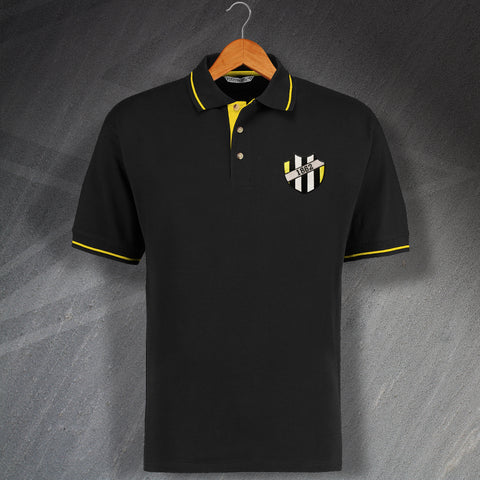 1862 Embroidered Contrast Polo Shirt