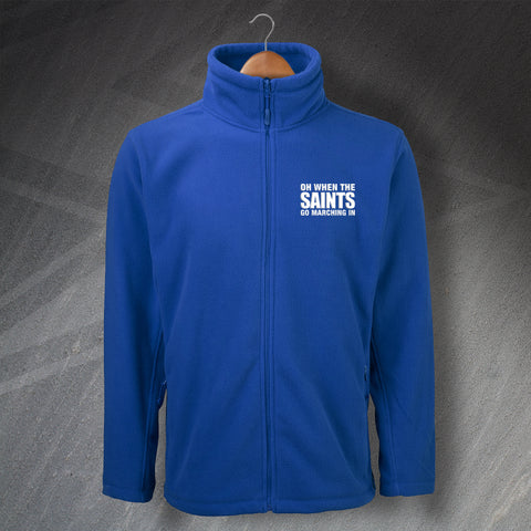 St Johnstone Football Fleece Embroidered Oh When The Saints Go Marching In