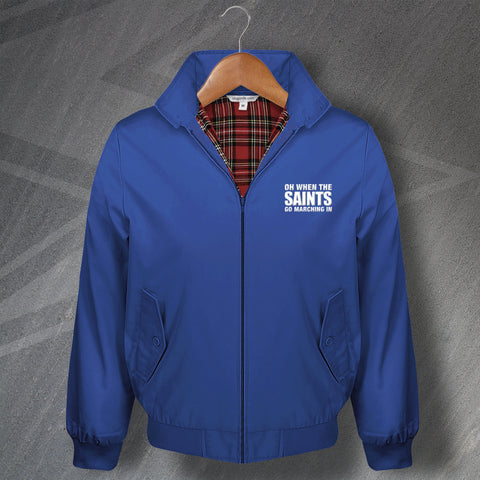 St Johnstone Football Harrington Jacket Embroidered Oh When The Saints Go Marching In