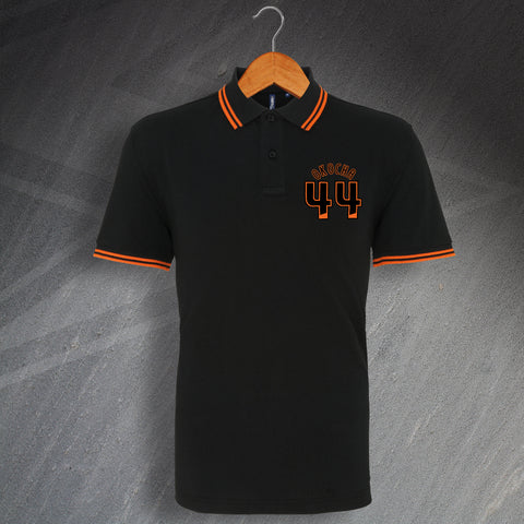 Hull Football Polo Shirt Embroidered Tipped Okocha 44