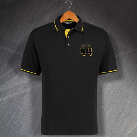 Hull Football Polo Shirt Embroidered Contrast Okocha 44