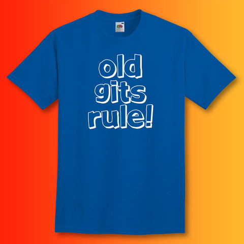 Old Gits Rule Unisex T-Shirt with Bold Design
