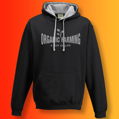 Organic Farming Contrast Hoodie with It's a Way of Life Design
