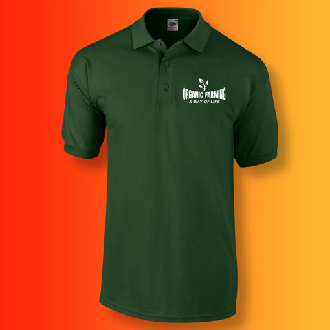 Organic Farming Polo Shirt with It's a Way of Life Design
