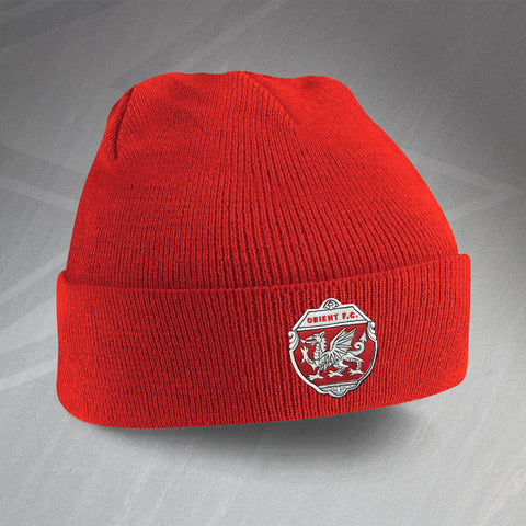 Leyton Orient Football Beanie Hat Embroidered Orient FC