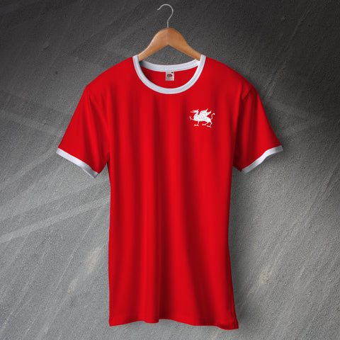 Retro Orient Football Ringer Shirt with Embroidered Badge