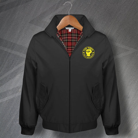 Watford Football Harrington Jacket Embroidered The 'Orns Pride of Hertfordshire
