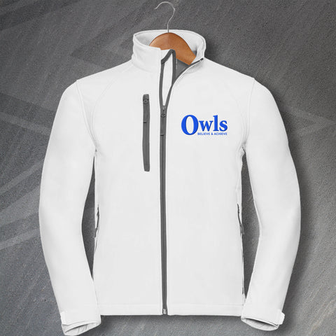 Sheffield Wednesday Football Jacket Embroidered Softshell Owls Believe & Achieve