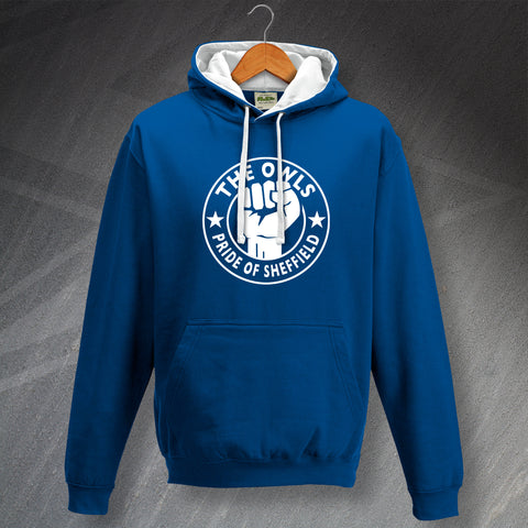 Sheffield Wednesday Football Hoodie Contrast The Owls Pride of Sheffield