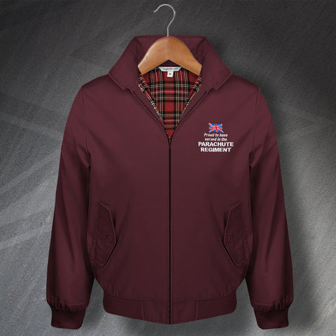 Parachute Regiment Harrington Jacket Embroidered Proud to Have Served