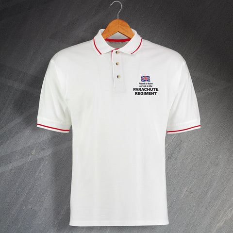 Parachute Regiment Polo Shirt Embroidered Contrast Proud to Have Served