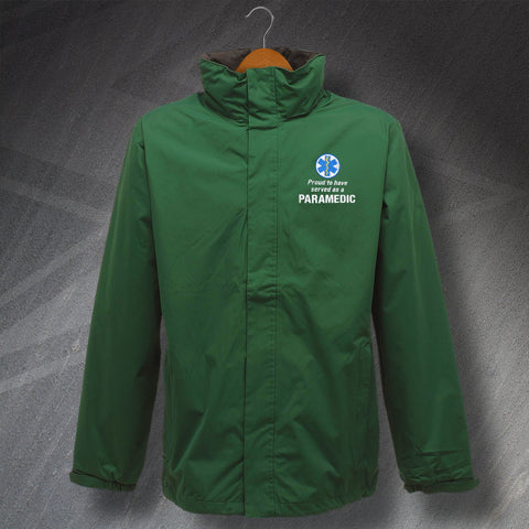 Proud to Have Served as a Paramedic Embroidered Waterproof Jacket