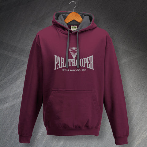 Paratrooper Hoodie Contrast It's a Way of Life