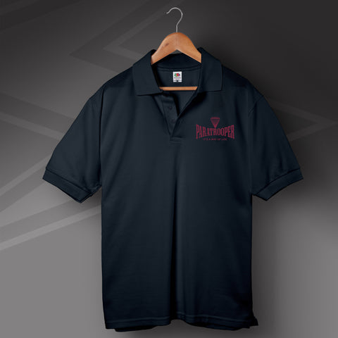 Paratrooper It's a Way of Life Polo Shirt