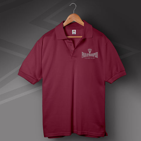 Paratrooper Polo Shirt Embroidered It's a Way of Life
