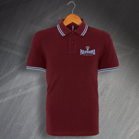 Paratrooper Polo Shirt Embroidered Tipped It's a Way of Life
