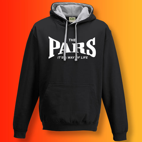 Pars Contrast Hoodie with It's a Way of Life Design