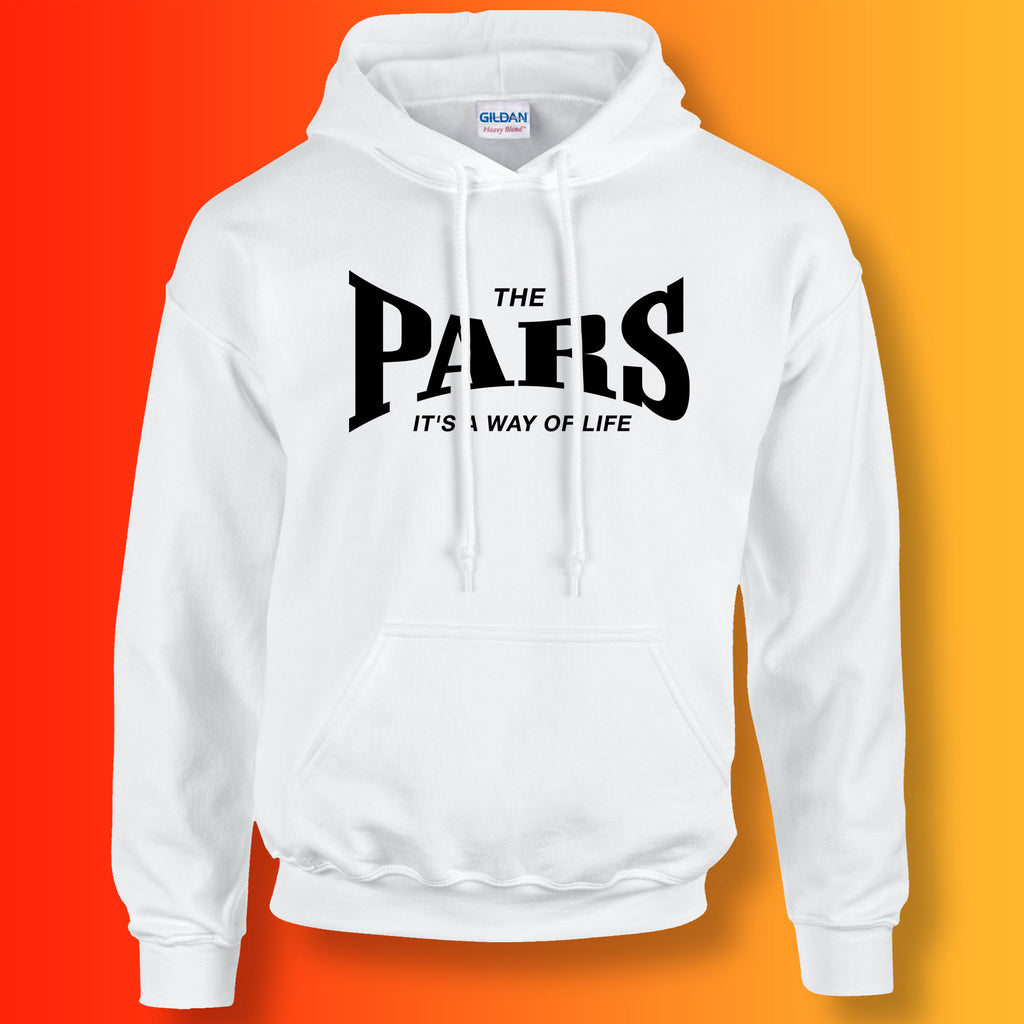 Pars Hoodie with It's a Way of Life Design White