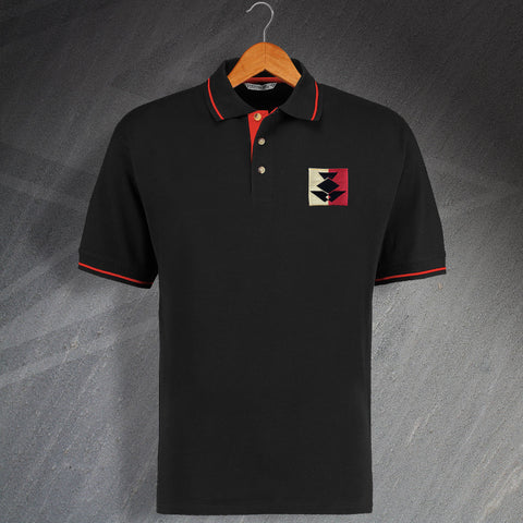 Partick Football Polo Shirt Embroidered Contrast 1990