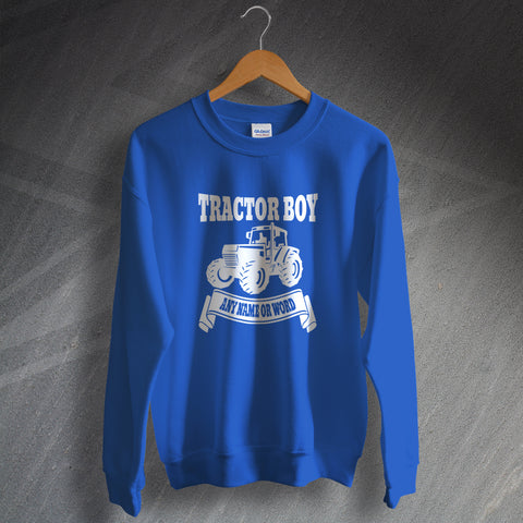 Ipswich Football Sweatshirt Personalised Tractor Boy