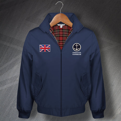 Operation Hornbeam Harrington Jacket Embroidered Naval Anchor & Union Flag