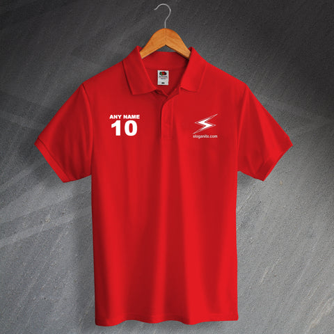 Sloganite Printed Polo Shirt Personalised with any Number & Name