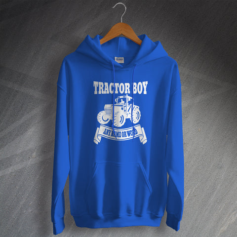 Ipswich Football Hoodie Personalised Tractor Boy
