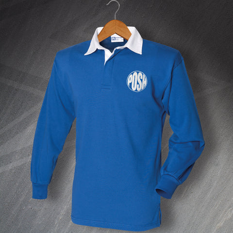 Peterborough Football Shirt Embroidered Long Sleeve 1974