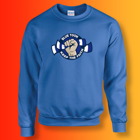 Blue Toon Keep The Faith Sweatshirt