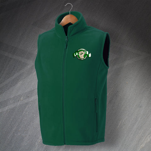 Plymouth Football Fleece Gilet Embroidered Pilgrims Keep The Faith