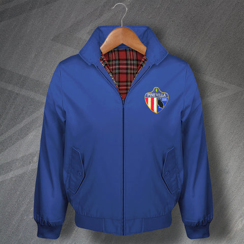 Retro Pine Villa Classic Harrington Jacket with Embroidered Badge