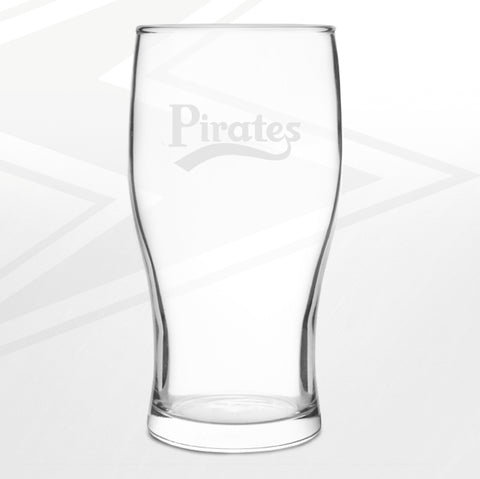 Bristol Rovers Football Pint Glass Engraved Pirates