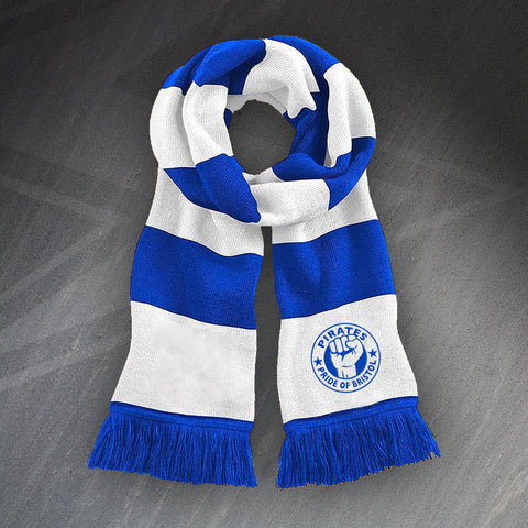 Bristol Rovers Football Bar Scarf Embroidered Pirates Pride of Bristol