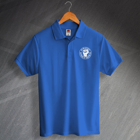 Bristol Rovers Football Polo Shirt Embroidered Pirates Pride of Bristol