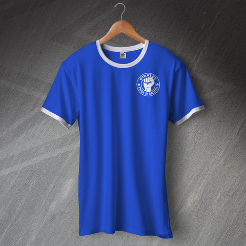 Bristol Rovers Football Shirt Ringer Embroidered Pirates Pride of Bristol