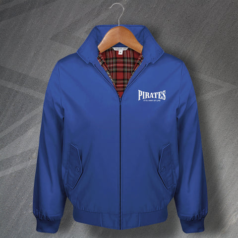 Bristol Rovers Football Harrington Jacket Embroidered Pirates It's a Way of Life
