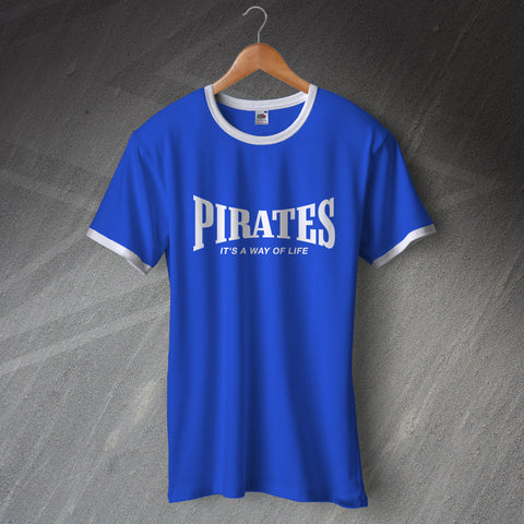 Bristol Rovers Football Shirt Printed Ringer Pirates It's a Way of Life