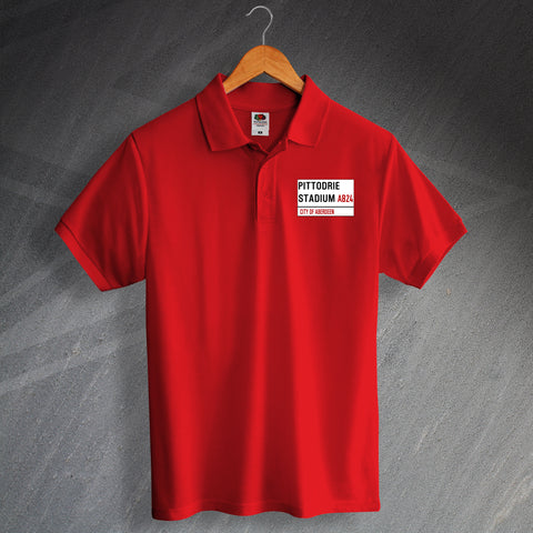 Pittodrie Stadium Polo Shirt