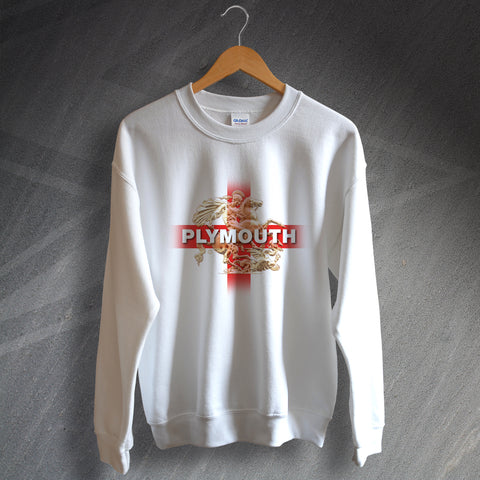 Plymouth Football Sweatshirt Saint George and The Dragon