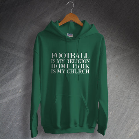 Plymouth Football Hoodie Football is My Religion Home Park is My Church